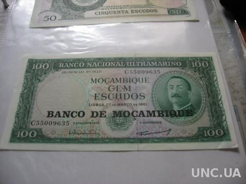 Мозамбик 100 эскудо 1961