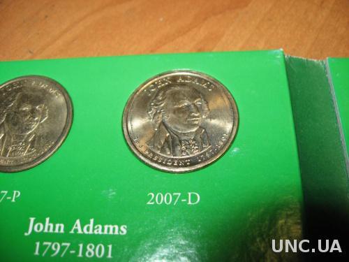 США 1 доллар 2007  Д Адамс