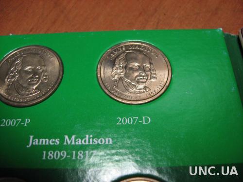 США 1 доллар 2007  Д  Медисон