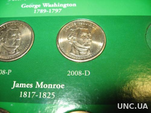 США 1 доллар 2008  Д  Монро
