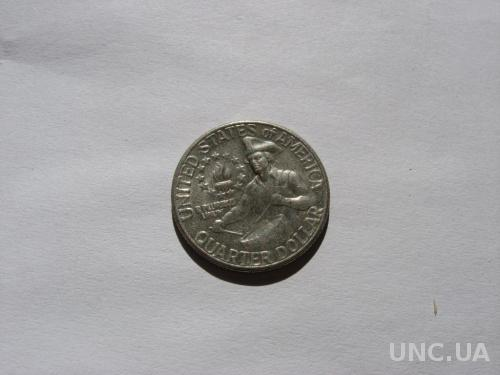 США 25 ц  1976  Д  юбилейная монета 200 лет