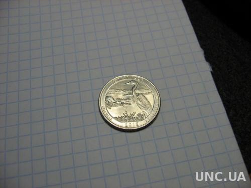 США 25 центов 2015 парк