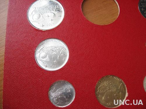 Ватикан, официальный  набор из 7 монет