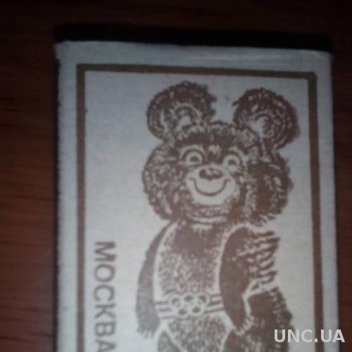 Спички Москва80(СССР) коллекционные олимпийский мишка новые балабаново