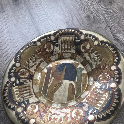 Настенная тарелка с бронзы афины