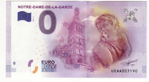 0 евро 2016 Нотр-Дам с голограммой, вод. знаками, рельефной печатью, ныряющей лентой, УФ!