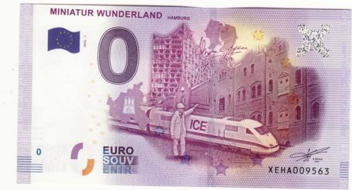 0 евро 2016 поезд, с голограммой, вод. знаками, рельефной печатью, ныряющей лентой, УФ!