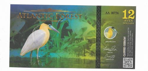 12 птичьих долларов Атлантический Лес 2016 неофициальный выпуск.
