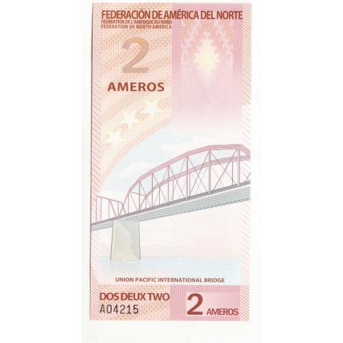 2 Amero Амеро 2011 Федерация Северной Америки, неофициальный выпуск