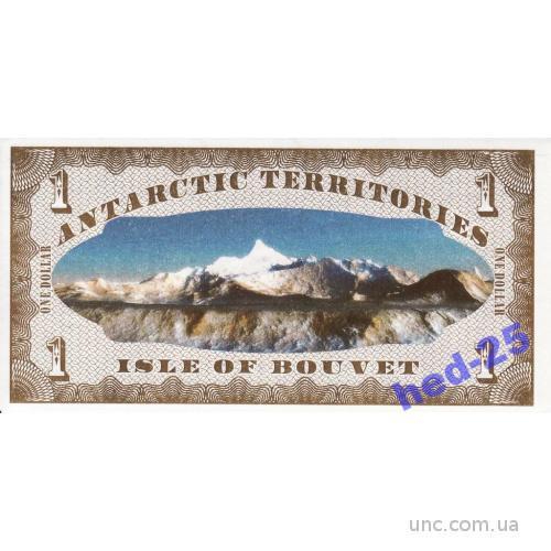 Буве остров Isle of Bouvet 1 доллар UNC 2011