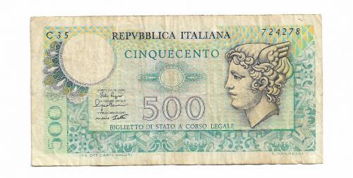 Италия 500 лир 1974 1979