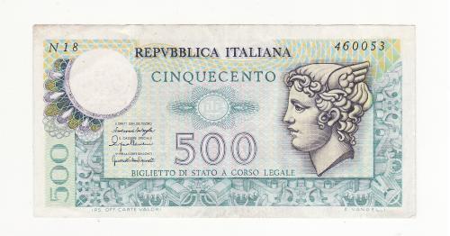 Италия 500 лир 1976