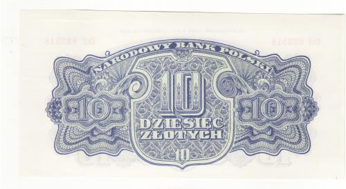 Польша 10 злотых 1944 obowiazkoWE редкая, памятный офиц. выпуск 1974 с оригин. клише.