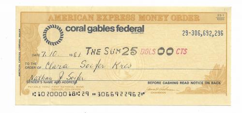 США денежный ордер American Express 25 долларов 1981, Колорадо, Денвер