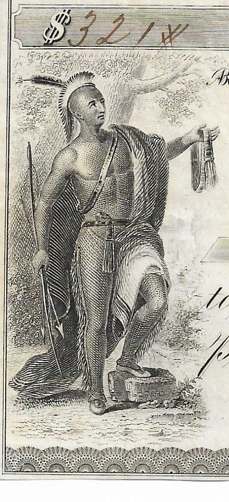 США Нью-Йорк Ilion Bank 1860