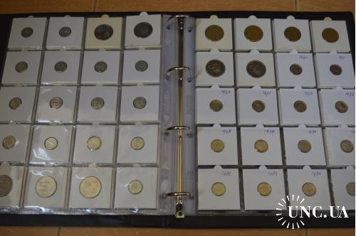 Альбом монет Нидерландских Антил и Арубы в холдерах и без (7 листов, 145 шт.) 3