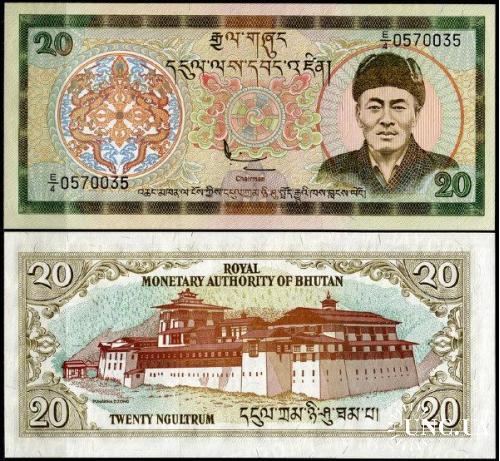 Бутан / Bhutan 20 Ngultrum 2000 Pick 23 UNC