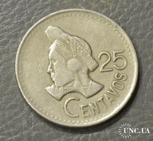 Гватемала 25 сентаво 1990 год (БЕ)