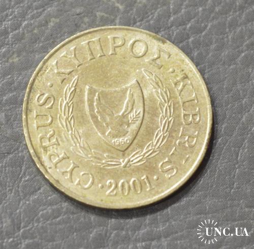 Кипр 5 центов 2001 г. фауна (БЕ)