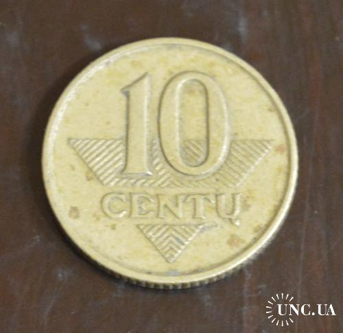Литва 1997 год  10 центов (БА)