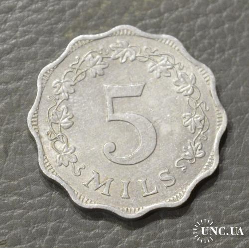 Мальта 5 милсов 1972 г (БЖ)