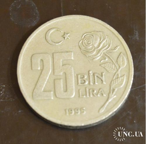 Турция 25 000 лир 1995 г(БВ)