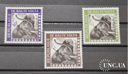 Верхняя Вольта. 1963  Фауна. Слон.