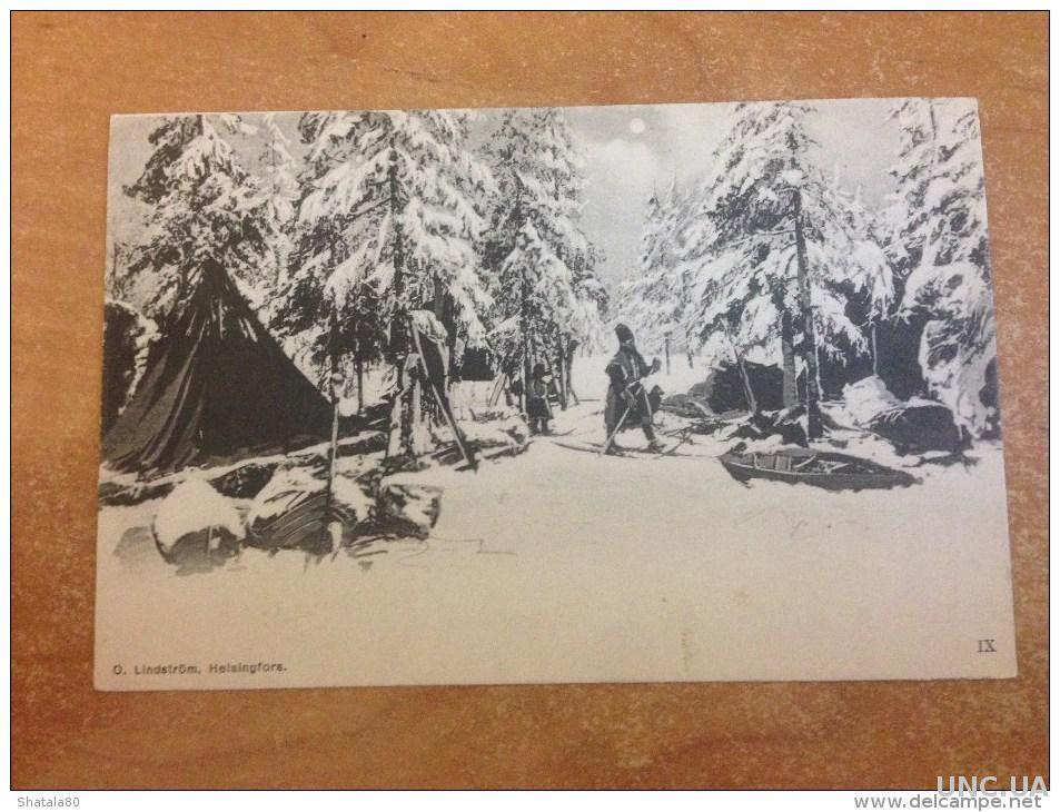 старинные открытки финляндии замке лесли есть