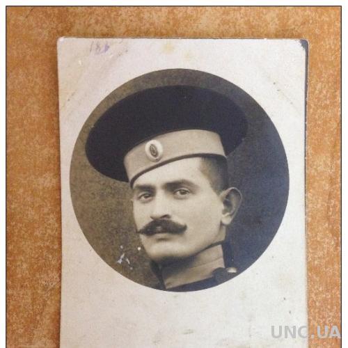 Открытка старинная Фотография солдата Лицо военного