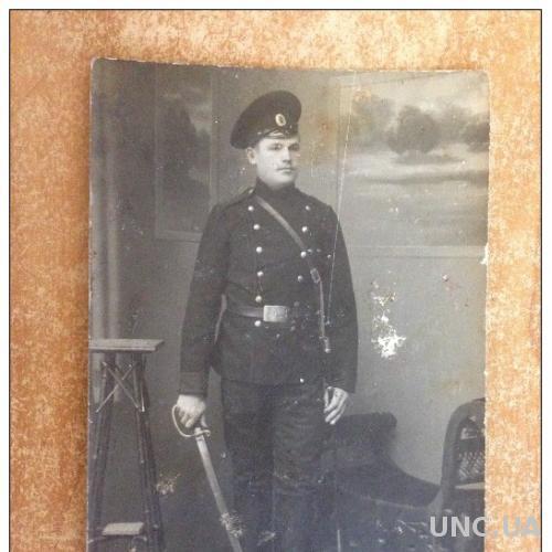 Старинная открытка Первая мировая война. Военный солдат