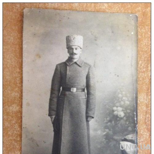 Старинное фото. Первая мировая война. Военный. Солдат в полный рост
