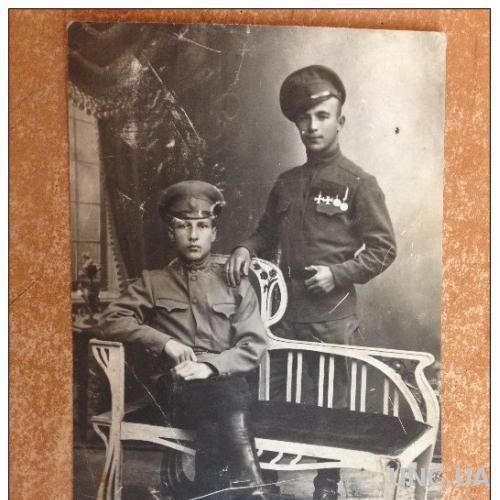 Открытка старинная Первая мировая война. Молодые солдаты
