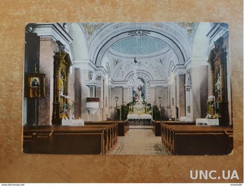 Открытка Румынии Интерьер римско-католического собора Interioru Catedralei Rom-Catolice