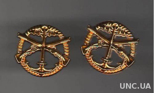 Эмблема Морская пехота Украина (новые)(пластик)(за пару)