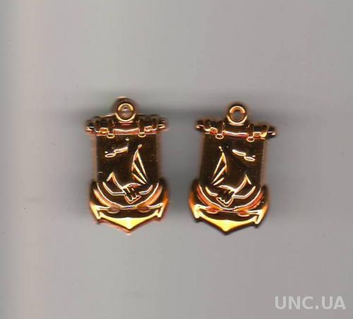 Эмблема ВМФ новая (за пару) (пластик)