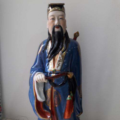 Фарфоровая статуэтка Бессмертный Люй Дунбинь Китай 1950-е Цзиндэчжэнь (景德镇 國泰瓷莊)