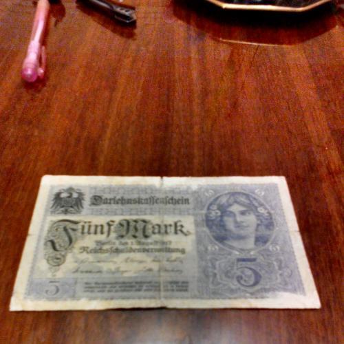 5 марок 1917г. Германия