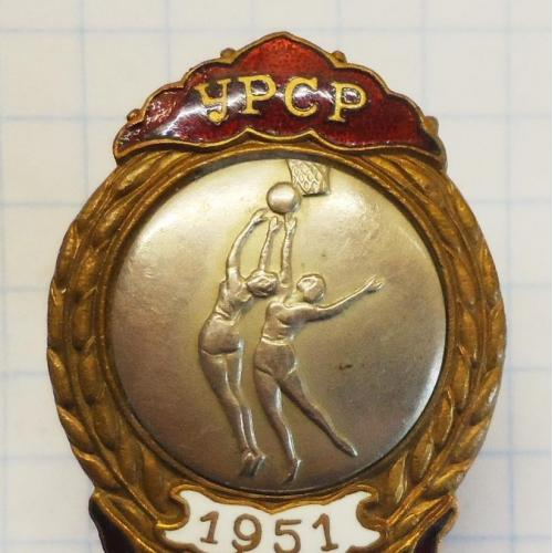 2-е. место Первенство УРСР 1951 Баскетбол женщины знак тяжёлый