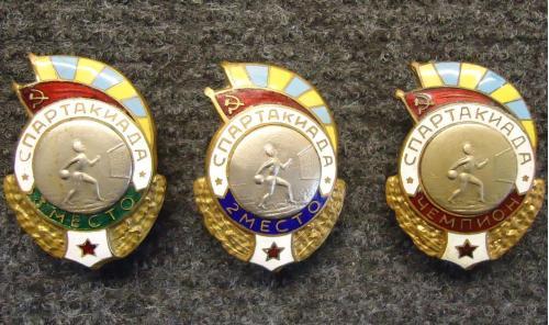 Спартакиада ВВС СССР ручной мяч волейбол 1.2.3. место армия знак