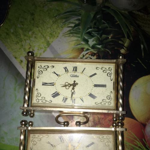 Часы советские настольные. 'Слава' 'Маяк'