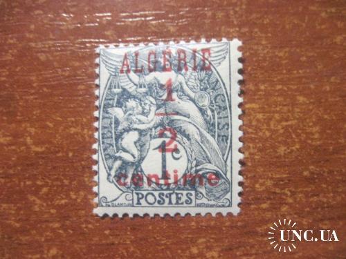 Алжир 1924 надпечатка на марке Франции  MLH