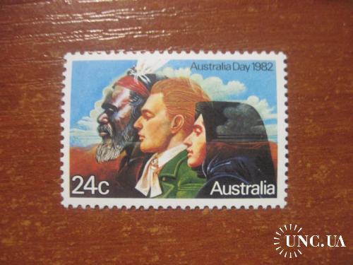 австралия 1982 день австралии аборигены жители люди **
