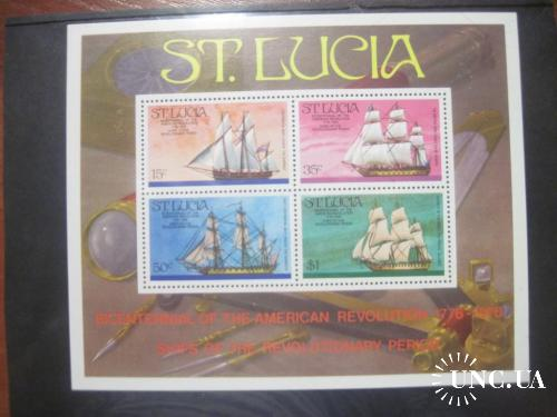 Cанта Лючия Люсия  1976 флот парусники корабли американской революции + БЛОК **
