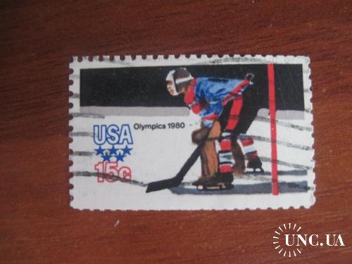 CША 1980 Олимпиада олимпийский год хоккей ГАШ