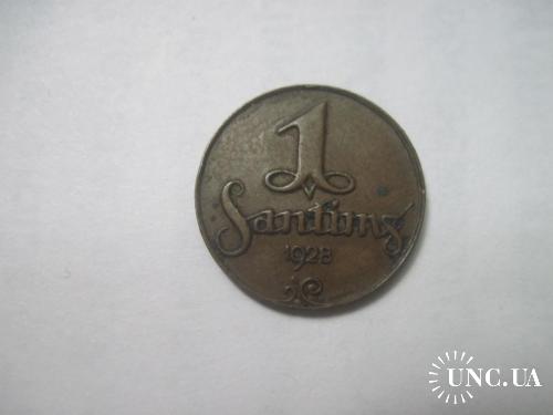 латвия 1 сантим 1928 VF+
