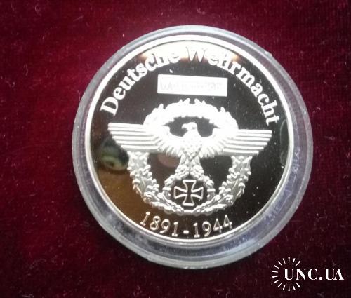 Медаль Германия Роммель 1891-1944 Пруф