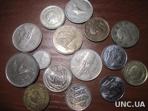Монеты разных стран 15 штук