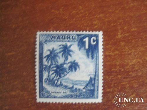 Науру 1954 залив пальмы побережье море   **