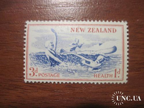 Новая Зеландия 1957 дети отдых пляж  флот Здоровье **