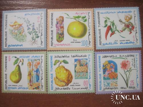 Тунис 1971 сельское хо-во фрукты огородничесиво флора **